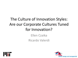The Culture of Innovation Styles: Are our Corporate Cultures Tuned for Innovation?
