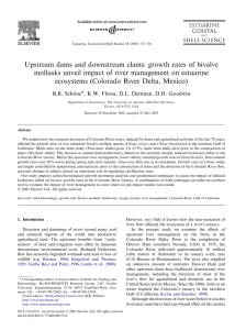 Upstream dams and downstream clams: growth rates of bivalve