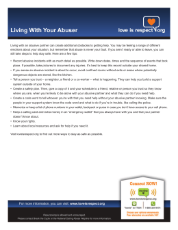 Living With Your Abuser