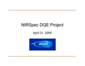 NIRSpec DQE Project April 21, 2005
