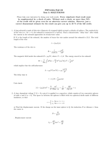PHY4324/Fall 09 Test I: SOLUTIONS