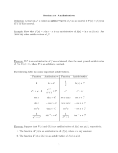 Section 5.8: Antiderivatives