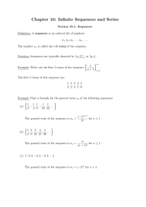 Chapter 10: Infinite Sequences and Series