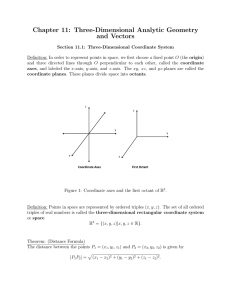 Chapter 11: Three-Dimensional Analytic Geometry and Vectors