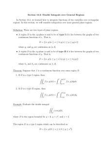 Section 13.3: Double Integrals over General Regions
