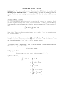 Section 14.8: Stokes' Theorem