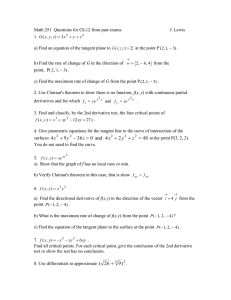Math 251  Questions for Ch.12 from past exams  J. Lewis 1.