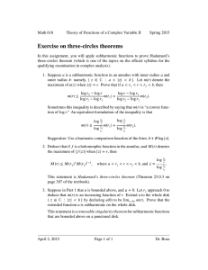 Exercise on three-circles theorems