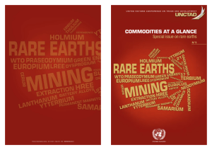 COMMODITIES AT A GLANCE Special issue on rare earths N°5