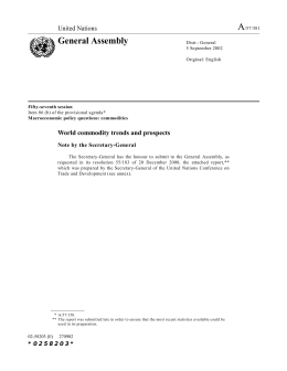 A General Assembly United Nations World commodity trends and prospects
