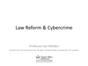 Law Reform & Cybercrime Professor Ian Walden