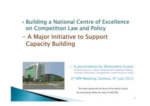 - A Major Initiative to Support Capacity Building