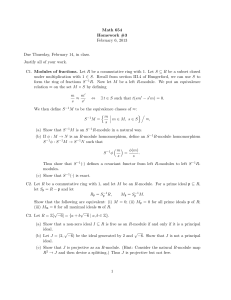 Math 654 Homework #3 February 6, 2013 Due Thursday, February 14, in class.