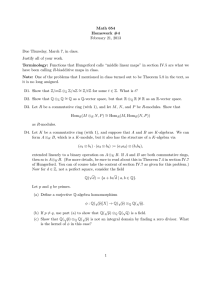 Math 654 Homework #4 February 21, 2013 Due Thursday, March 7, in class.