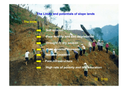 The Limits and potentials of slope lands Soil erosion