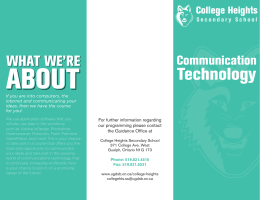 Communication College Heights For further information regarding