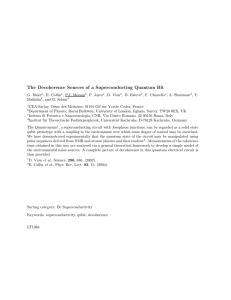 The Decoherence Sources of a Superconducting Quantum Bit