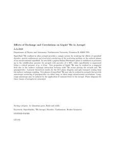 Effects of Exchange and Correlations on Liquid He in Aerogel