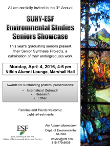 3 This year's graduating seniors present their Senior Synthesis Projects, a