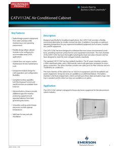 CATV112AC Air Conditioned Cabinet DISCONTINUED PRODUCT