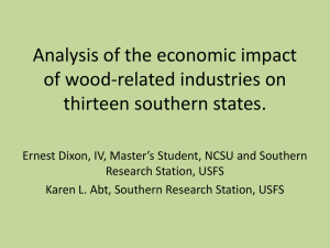 Analysis of the economic impact of wood-related industries on thirteen southern states.