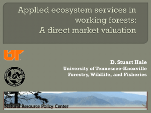Applied ecosystem services in working forests: A direct market valuation
