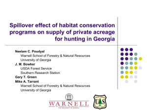 Spillover effect of habitat conservation programs on supply of private acreage