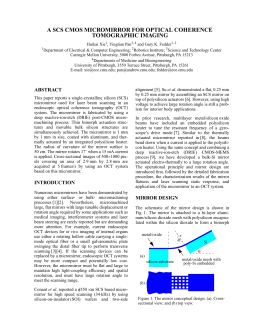 A SCS CMOS MICROMIRROR FOR OPTICAL COHERENCE TOMOGRAPHIC IMAGING