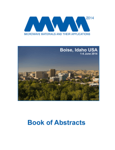 Book of Abstracts Boise, Idaho USA 1-4 June 2014