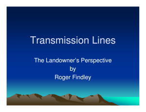 Transmission Lines The Landowner's Perspective by Roger Findley