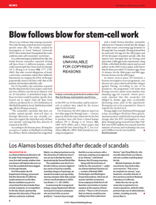 Blow follows blow for stem-cell work