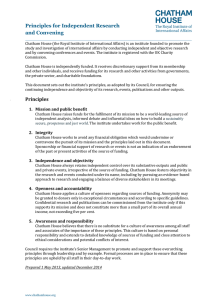 Principles for Independent Research and Convening
