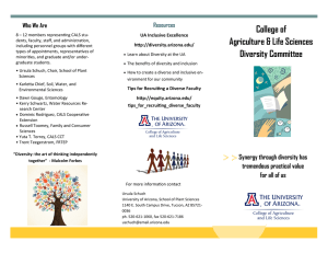 College of Agriculture & Life Sciences Who We Are Resources
