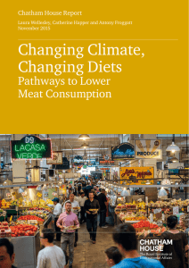 Changing Climate, Changing Diets Pathways to Lower Meat Consumption