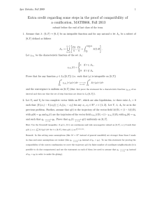 Extra credit regarding some steps in the proof of compatibility... a conification, MATH666, Fall 2013