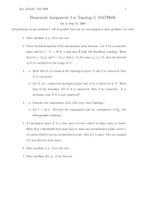 Homework Assignment 3 in Topology I, MATH636
