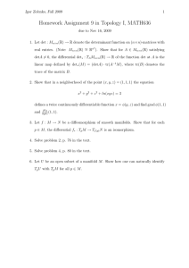 Homework Assignment 9 in Topology I, MATH636