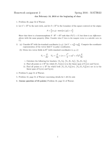 Homework assignment 2 Spring 2016 - MATH622