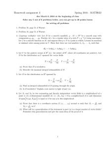 Homework assignment 3 Spring 2016 - MATH622