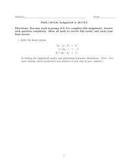 Name(s): Score: Math 148 Lab Assignment 4: §9.1-9.2