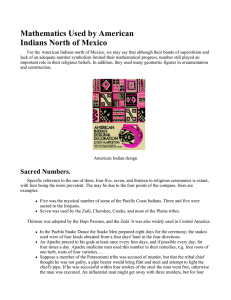 Mathematics Used by American Indians North of Mexico