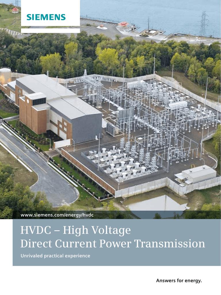 High Voltage Direct Current Supergrids : Hvdc high voltage direct current power transmission