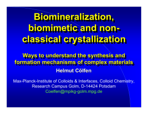 Biomineralization , Biomineralization, biomimetic