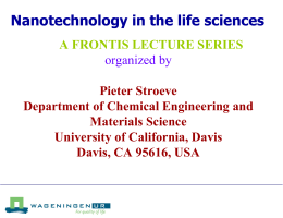 Nanotechnology in the life sciences