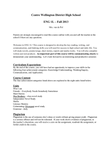Centre Wellington District High School ENG 1L – Fall 2013