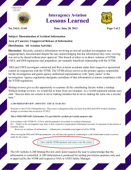 Lessons Learned Interagency Aviation