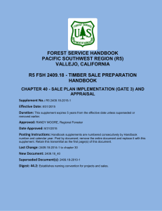 FOREST SERVICE HANDBOOK PACIFIC SOUTHWEST REGION (R5) VALLEJO, CALIFORNIA