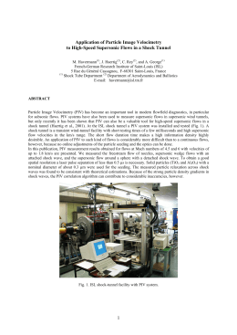 Application of Particle Image Velocimetry