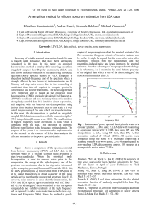 An empirical method for efficient spectrum estimation from LDA data