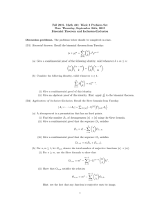 Fall 2015, Math 431: Week 3 Problem Set